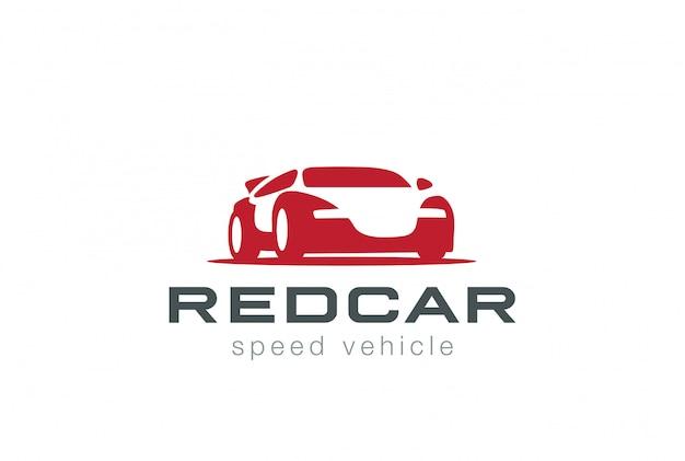 Icona di vettore rosso sport car logo. stile spazio negativo Vettore gratuito