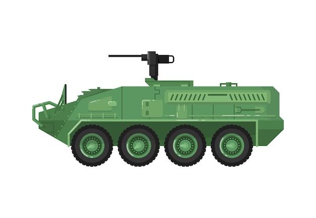 Icona isolata veicolo da combattimento moderno Vettore Premium