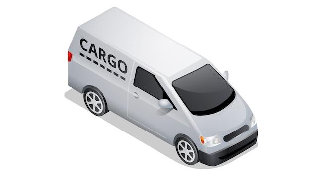 Icona isometrica dell'automobile isolata su bianco Vettore gratuito