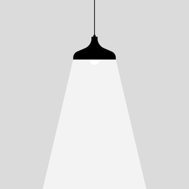 Icona lampadina. posto per il tuo testo. lampade luci luci. Vettore Premium