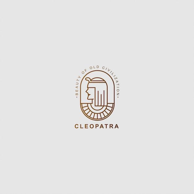 Icona logo premium di cleopatra Vettore Premium