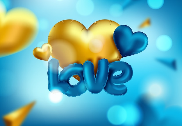 Icona lucida isolata del pallone del cuore per il giorno di biglietti di s. valentino Vettore Premium