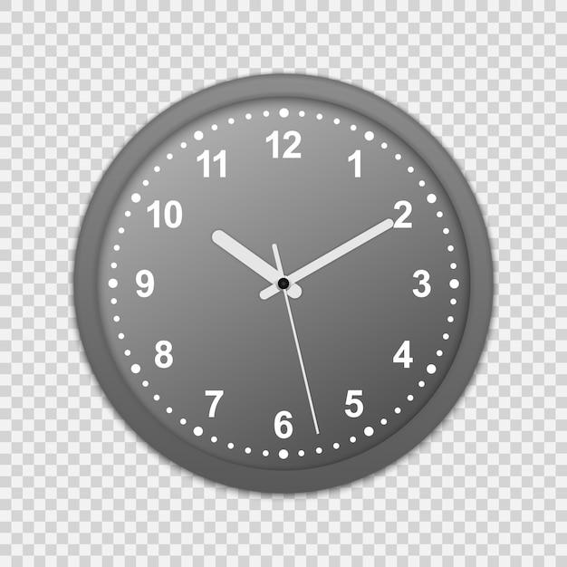 Icona orologio da parete. mock-up per il branding e pubblicità isolato su trasparente Vettore Premium