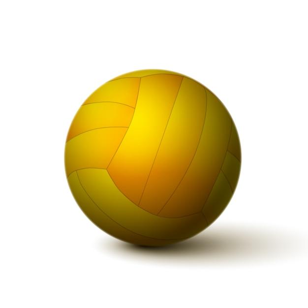 Icona realistica della sfera di pallavolo isolata Vettore gratuito
