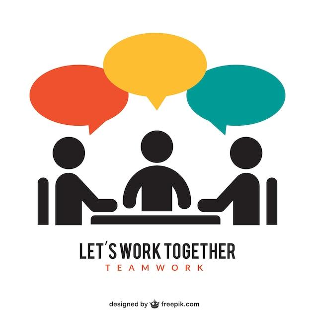 Icona teamwork Vettore gratuito