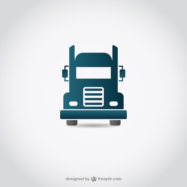 Icona truck Vettore gratuito