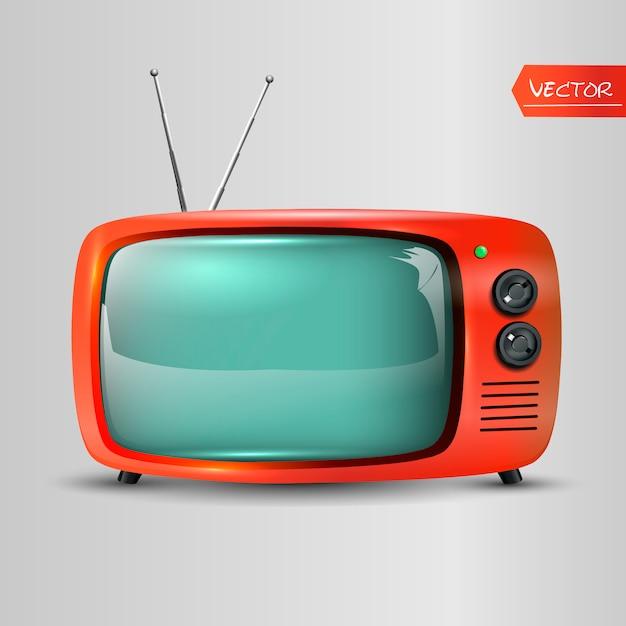 Icona tv retrò Vettore Premium