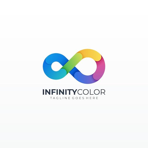 Icona variopinta dell'illustrazione al tratto del ciclo di infinito Vettore Premium