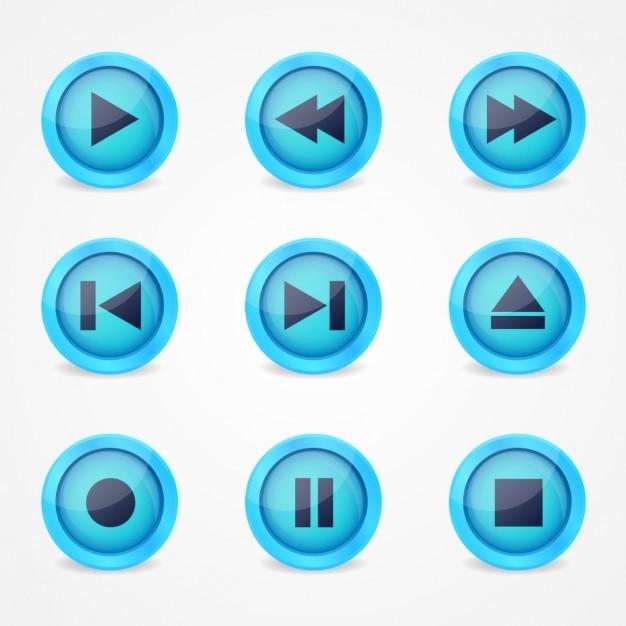 Icone del lettore musicale Vettore gratuito