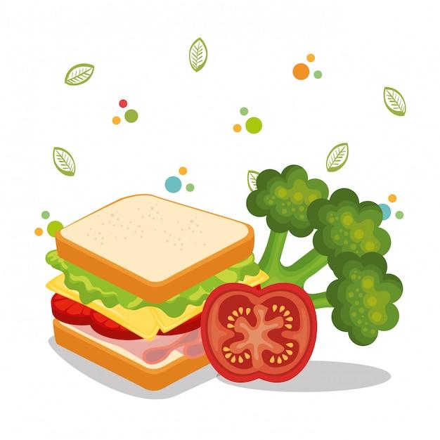 Icone del menu cibo delizioso Vettore gratuito