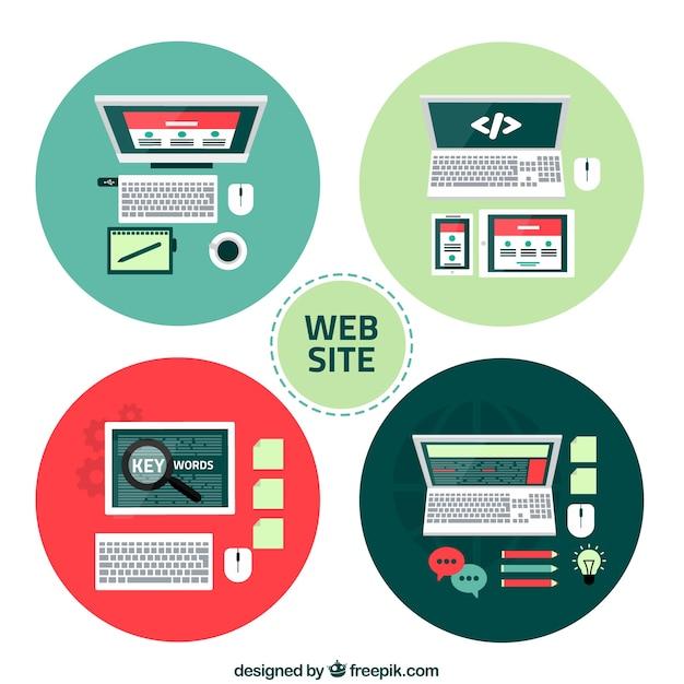 Icone del sito web scaricare vettori gratis for Sito web piano gratuito