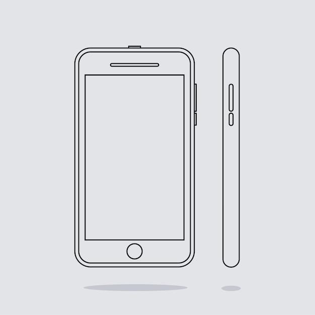 Icone Del Telefono Su Sfondo Bianco Scaricare Vettori Premium