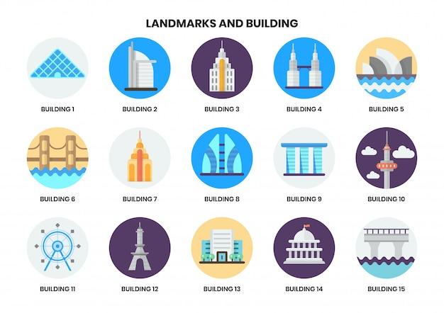 Icone della costruzione messe per l'affare Vettore Premium