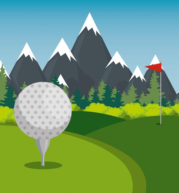 Icone della lega dei campioni di sport di golf Vettore gratuito