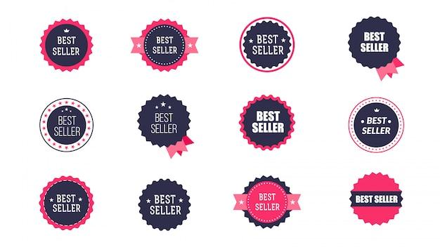 Icone di bestseller vintage. Vettore Premium