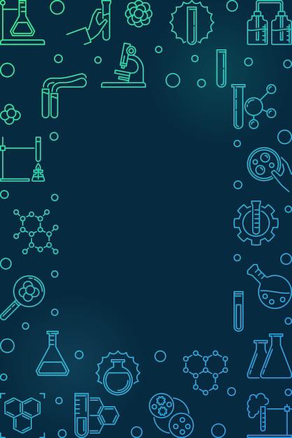 Icone di contorno di chimica Vettore Premium
