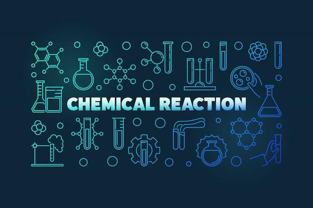 Icone di contorno di reazione chimica Vettore Premium