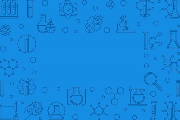Icone di contorno muta chimica Vettore Premium