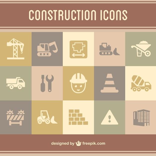 Icone di costruzione flat scaricare vettori gratis for Software di costruzione gratuito