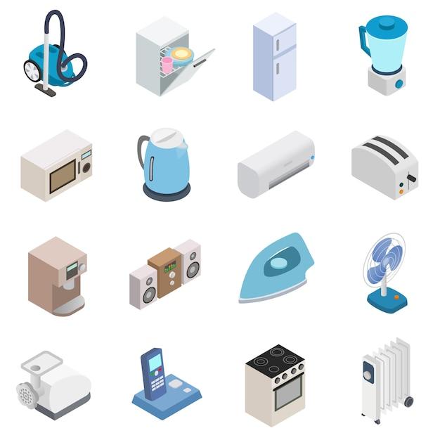 Icone di elettrodomestici Vettore Premium