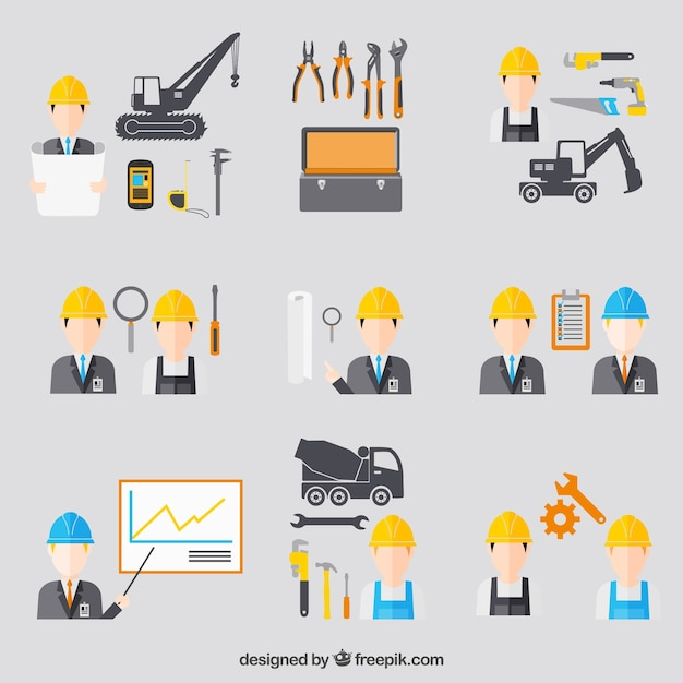 Icone di ingegneria di costruzione scaricare vettori gratis for Software di costruzione gratuito