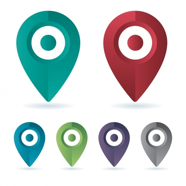 Icone di localizzazione Vettore gratuito