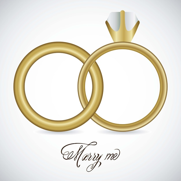 Icone di nozze Vettore Premium