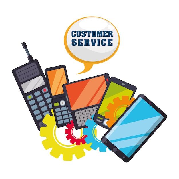 Icone di servizio di assistenza clienti Vettore Premium
