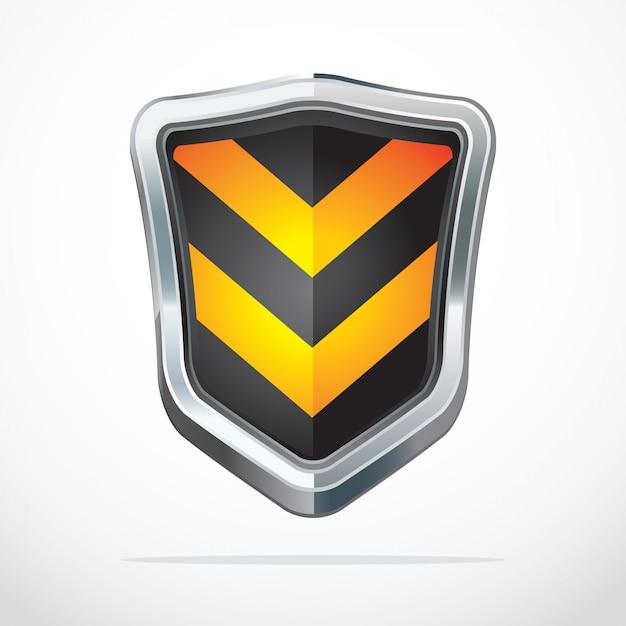 Icone di sicurezza scudo di protezione. Vettore Premium