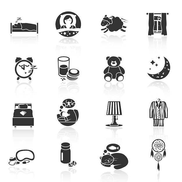 Icone di sogni d'oro Vettore gratuito