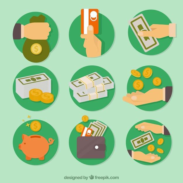 Icone economia Vettore gratuito