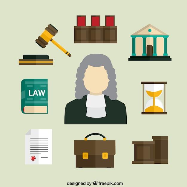 Icone Law Vettore gratuito