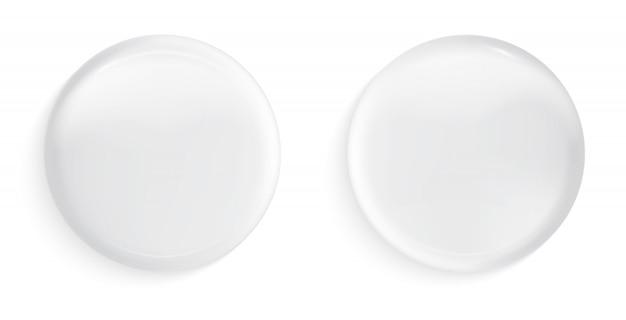 Icone lucide realistiche Vettore Premium