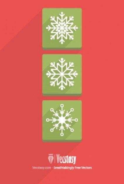 Icone piatto fiocchi di neve di design scaricare vettori for Disposizione seminterrato di design gratuito