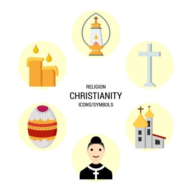 Icone religiose cristianesimo Vettore gratuito