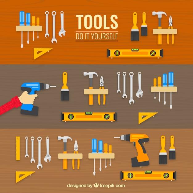 Icone tools Vettore gratuito