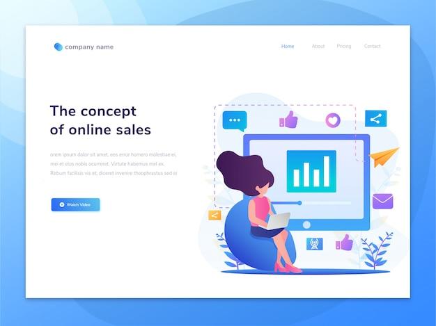 Idea dell'illustrazione di concetto delle pagine web Vettore Premium