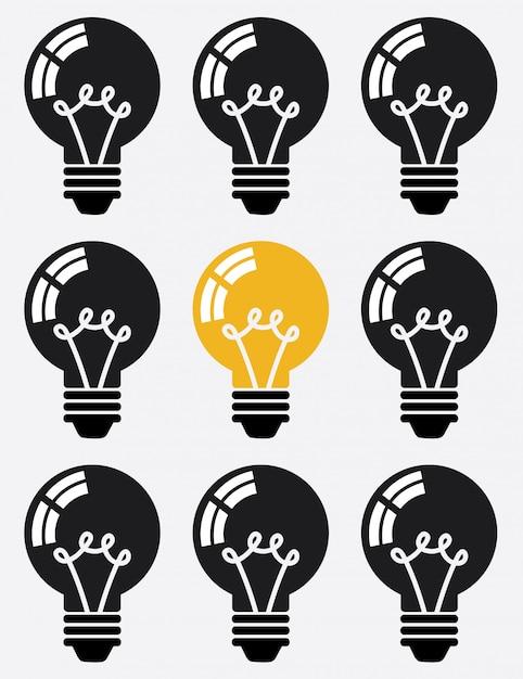 Idea della lampadina Vettore gratuito