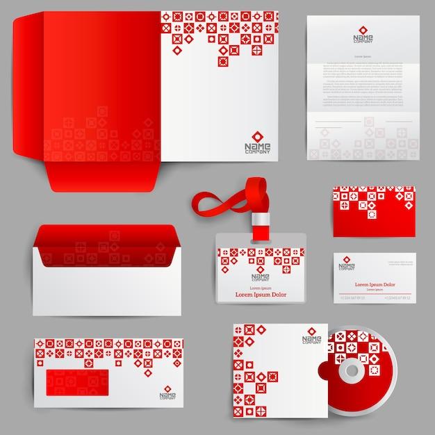 Identità aziendale rosso Vettore gratuito