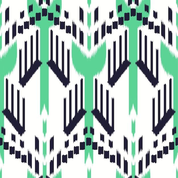 Ikat seamless pattern design Vettore Premium