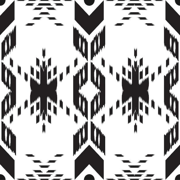 Ikat seamless pattern Vettore Premium