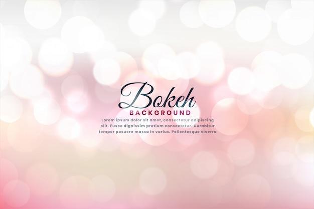 Il bello bokeh molle illumina l'effetto di fondo Vettore gratuito