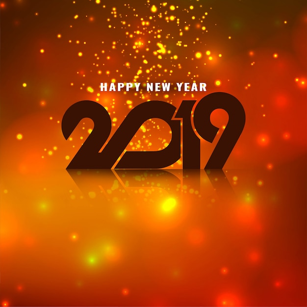 Il buon anno elegante 2019 luccica il saluto del fondo Vettore gratuito