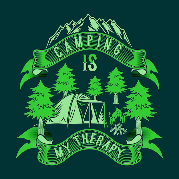 Il campeggio è la mia terapia Vettore Premium