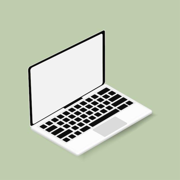 Il computer portatile Vettore gratuito