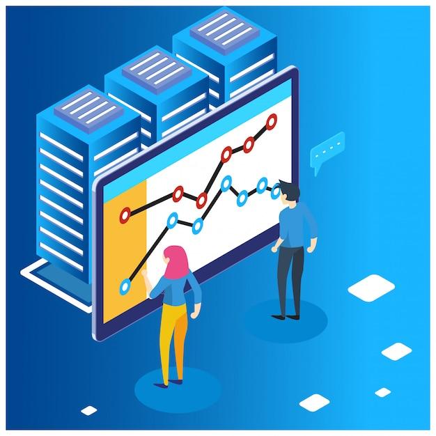 Il concetto di strategia aziendale Vettore Premium