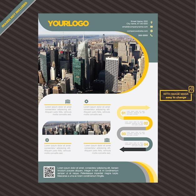 il design modello di brochure Vettore gratuito