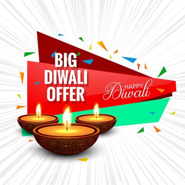 Il festival di diwali offre la progettazione del modello del fondo della grande vendita Vettore gratuito