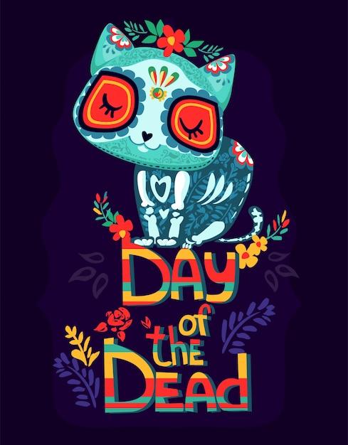 Il giorno dei morti cartoon Vettore Premium