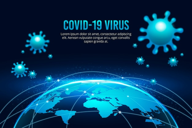 Il globo di coronavirus è in quarantena Vettore gratuito